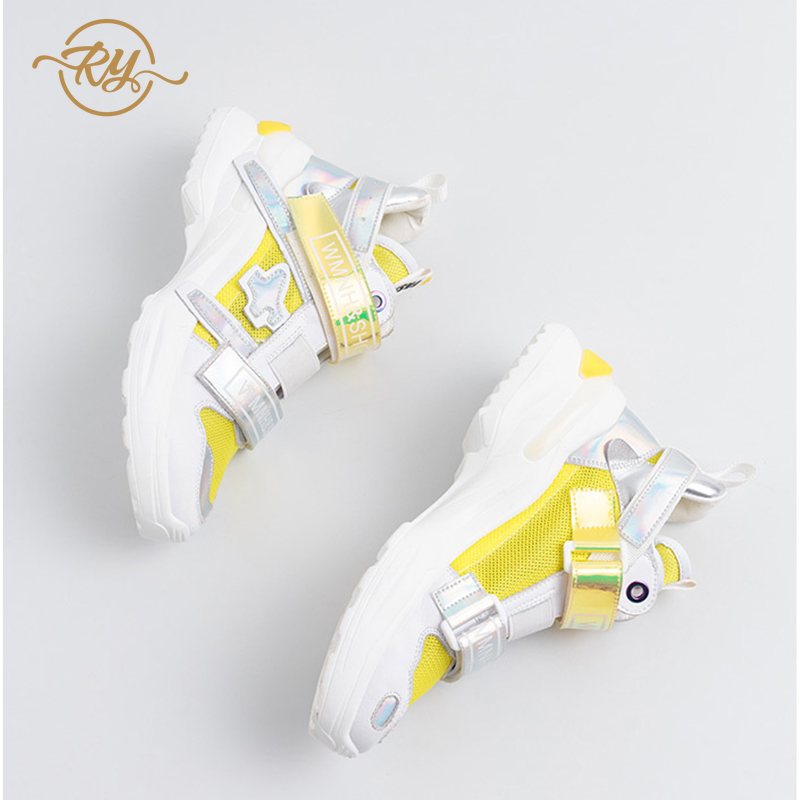 RY-relaa fashion women's shoes 2019 summer net red foreign gas wild tide shoes women's shoes Hook&Loop casual sports shoes