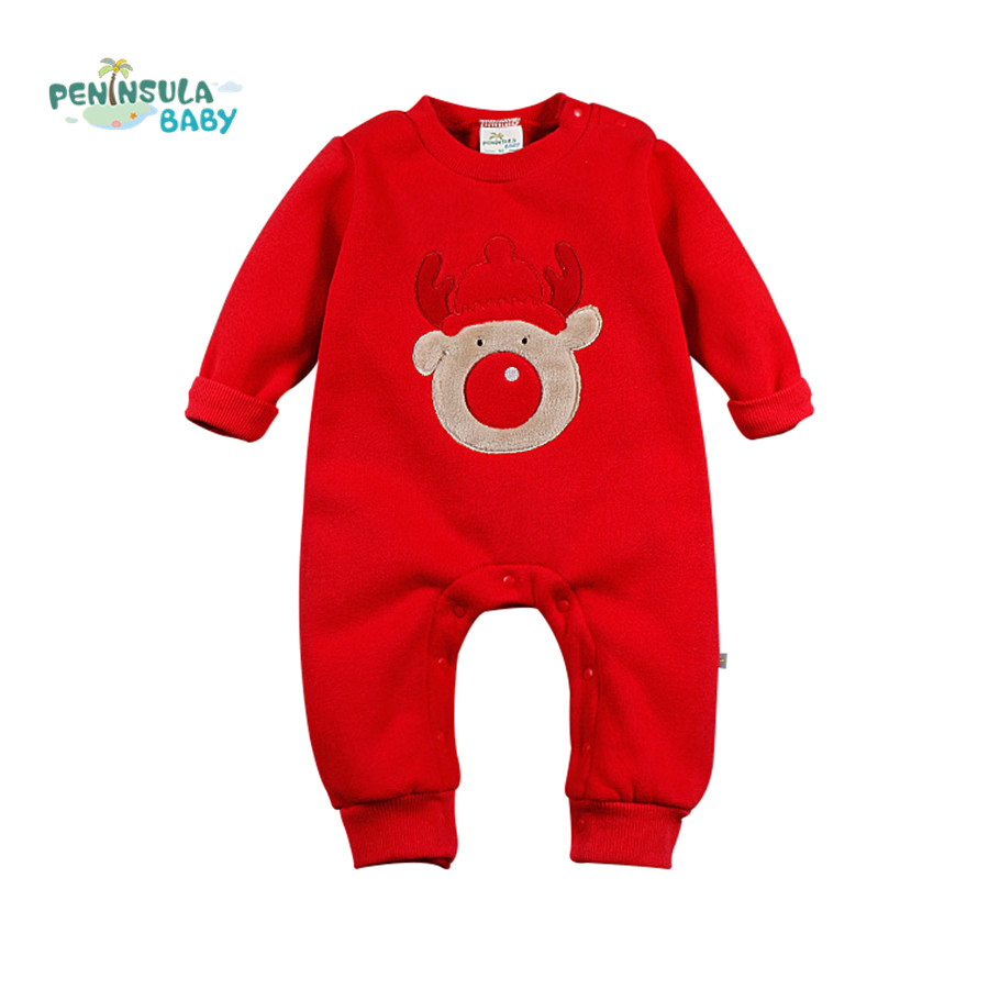 Christmas Baby Rompers Newborn Infant Clothes Christmas Deer Trees Cotton Long Sleeve Hooded Jumpsuits Winter Boy Girl Clothing baby rompers long sleeve baby boy girl clothing jumpsuits children autumn clothing set newborn baby clothes cotton baby rompers