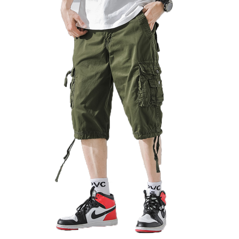 New Summer Men Cargo Shorts 2019 Mens Army Shorts Male Casual Workout Homme Cotton Short Pant Pantalon Buzo Hombre Knee Length