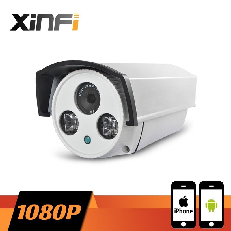 XINFI HD 1080P Surveillance Camera 2.0 MP Outdoor Waterproof network CCTV IP camera P2P ONVIF 2.0 PC&Phone remote view цена 2017