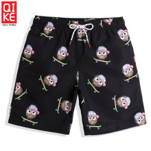 Summer Men's cartoon beach shorts sexy liner swimwear bathing suit loose surf joggers plavky board shorts mesh(China)