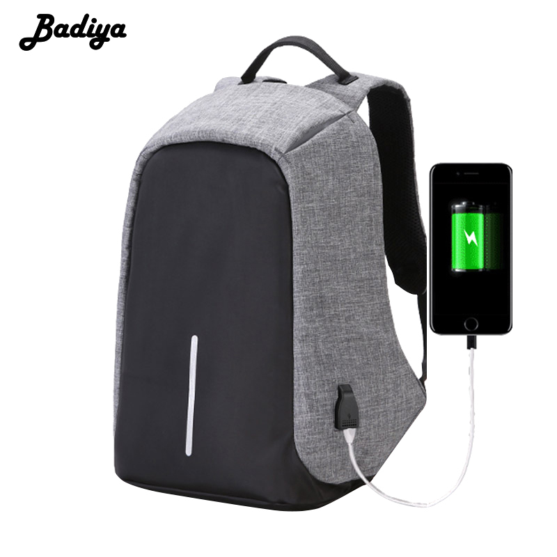 New 15.6 Inches Laptop Backpack Men Women Anti Theft USB Charging Travel Shoulder Bags Business Unisex Waterproof Big Capacity