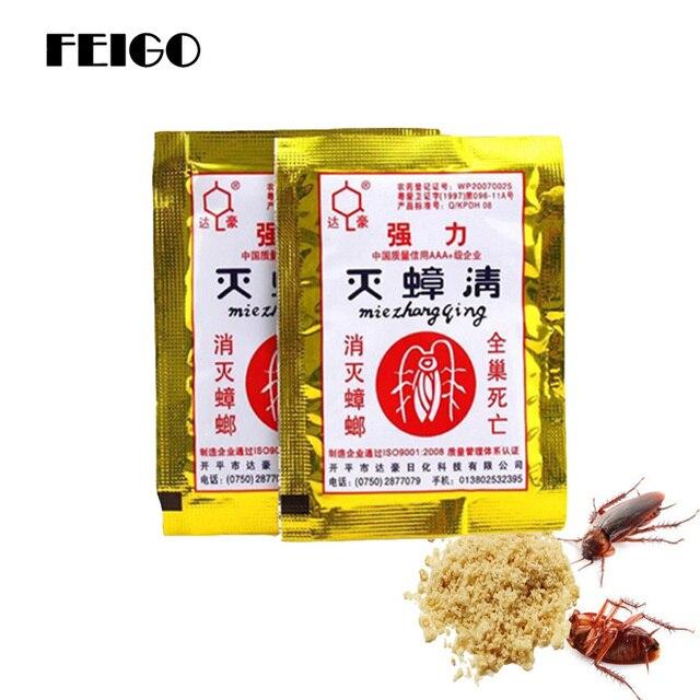 FEIGO, 5 шт., средство от тараканов, мощное средство для устранения тараканов, иинсектицидный порошок, контроль тараканов, мышь для всей семьи, Deworming F55