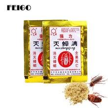 FEIGO 5Pcs แมลงสาบ Repellent ที่มีประสิทธิภาพกำจัดแมลงสาบ Iinsecticidal แป้งแมลงสาบครอบครัว Deworming F55