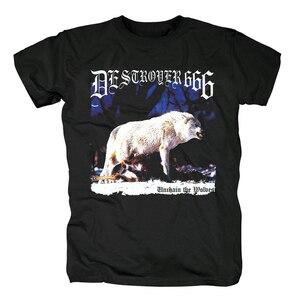 Image 3 - Bloodhoof destroyer666 brutal death metal thrash metal black  cotton t shirt Asian Size
