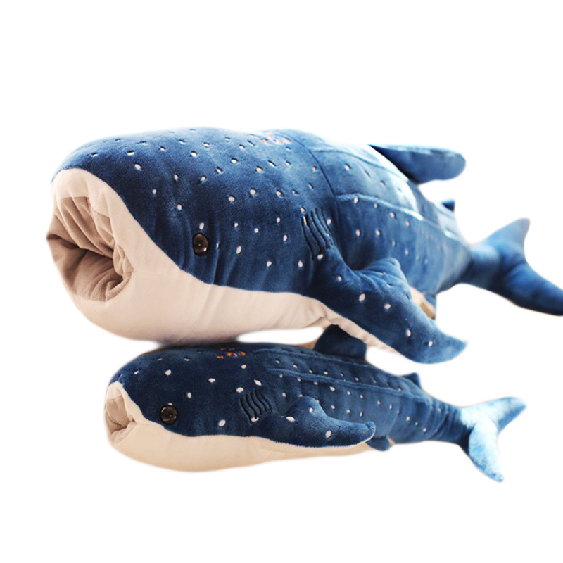 50/100cm Large Size <font><b>Blue</b></font> Shark <font><b>Plush</b></font> Toys Big Fish Cloth doll <font><b>Whale</b></font> stuffed <font><b>plush</b></font> animals doll Children Birthday Gift image