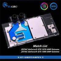 Bykski Full Coverage GPU Water Block For ZOTAC GeForce GTX 1070 1080 Ti AMP Extreme Graphics Card N ST1080TIAMPEX X