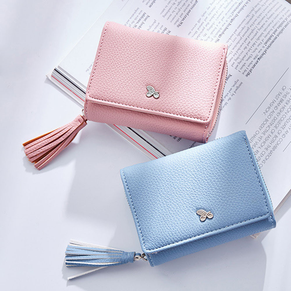 Maison2017 Hot Sale Tassels Zipper Women Wallet For Coin Card Cash Invoice Fashion Lady Small Purse Dropship 171031