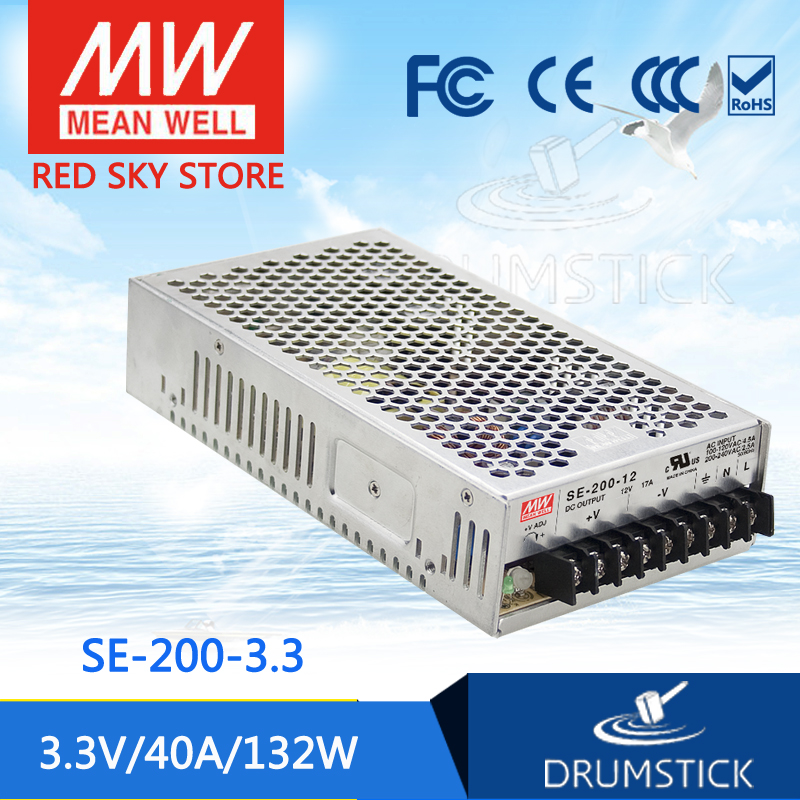 цена Advantages MEAN WELL SE-200-3.3 3.3V 40A meanwell SE-200 3.3V 132W Single Output Switching Power Supply