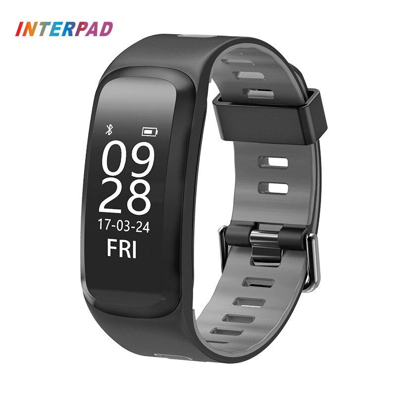Interpad Smart Band I-F4 Smart Wristband Heart Rate Tracker Blood Pressure Fitness Bracelet IP68 Waterproof GPS Smart Watch ...