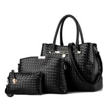 2017 bolso de la manera bolso portátil bolsas de tela escocesa de las mujeres de un hombro cruzada cuerpo bolsa imagen piezas conjunto