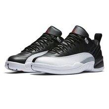 size 40 79025 08e18 Di alta Qualità Jordan 12 Uomini scarpe da basket A Basso ovo Playoff Nero  bianco Scarpe