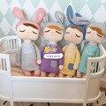 Metoo conejo angela muñecas 12 cm/35 cm bebé de juguete de felpa muñeca dulce lindo peluche toys muñecas para los niños niñas regalo de cumpleaños/navidad