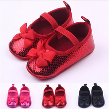 Fashion New PU Baby Shoes First Walkers Lovely Bowknot Infan