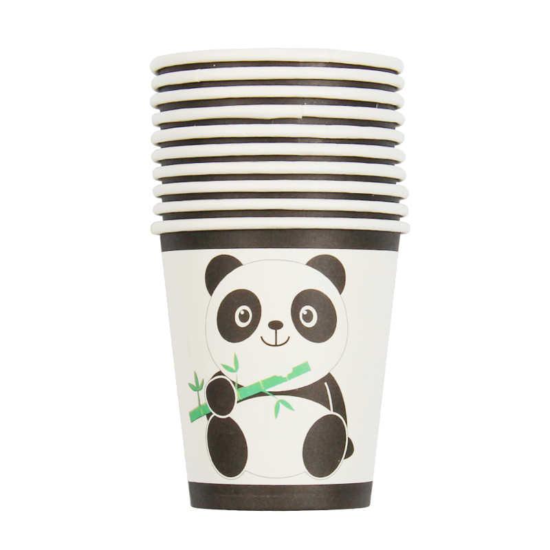 60 Pcs Dos Desenhos Animados de Aniversário Talheres Descartáveis Conjunto Panda Decoração Festa de Aniversário Crianças Copo Guardanapo Placa Fontes Do Partido Do Chuveiro Do Bebê