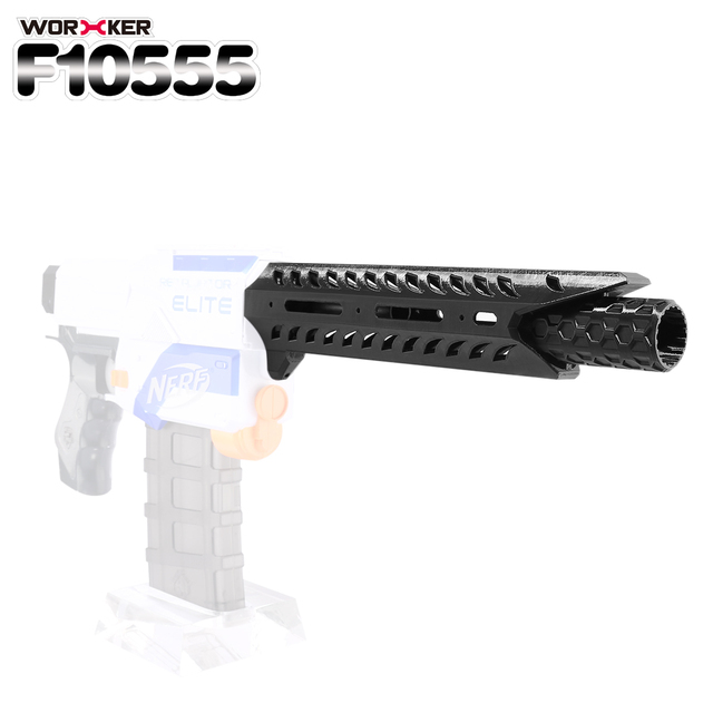 WORKER f10555 Viper 3D Printing Bare Front Pipe for Nerf Stryfe - Black