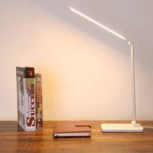 Kademesiz kısılabilir masa okuma lambası katlanabilir dönebilen dokunmatik anahtarı LED masa lambası DC 5V USB şarj portu zamanlama masa lambası