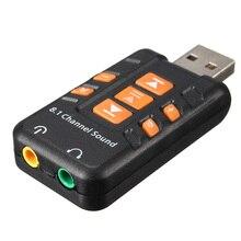 Newest  External USB 2.0 Virtual 8.1 Channel CH 3D Audio Sound Card Adapter Converter