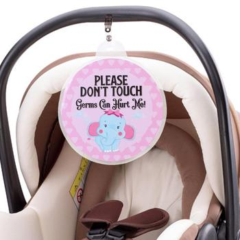 Znak bezpieczeństwa dziecka bez dotykania Tag noworodka Preemie wózek Tag fotelik samochodowy dla dziecka Tag prezent na Baby Shower tanie i dobre opinie Z tworzywa sztucznego Trolley accessories 0-3 M 10-12 M 13-18 M 19-24 M 4-6 M 7-9 M Inne drop shipping wholesale Decoration