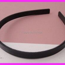 20 шт. 10 мм черные простые пластиковые повязки для волос с двумя рядами зубов DIY украшения для волос оптом