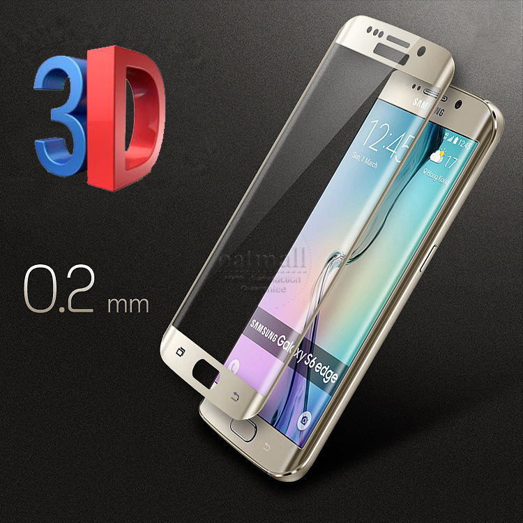 0.2mm Full Screen Tempered Glass For Samsung Galaxy S6 Edge/S6 Edge Plus Screen Protector 3D Curved Protective Glass On S6 Edge