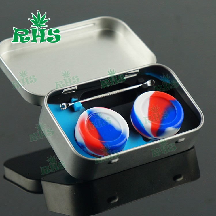 1pcs 10ml Tin Box Wax Containers for Dabs Non stick Shatter