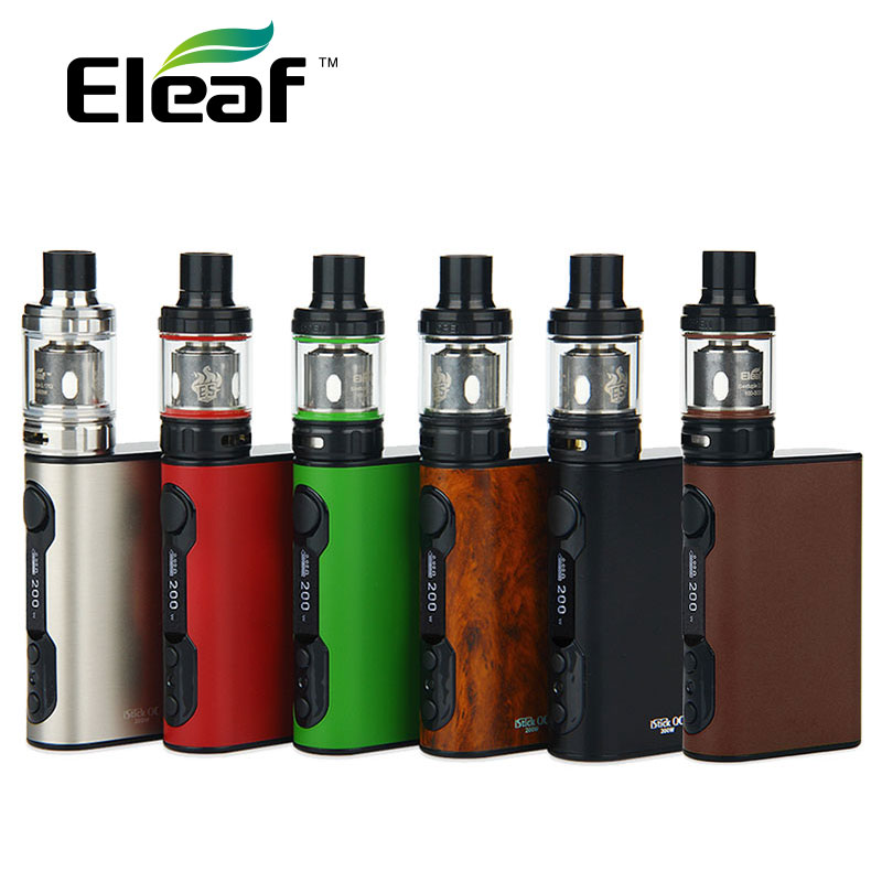цена на Original Eleaf iStick QC 200W with Melo 300 Kit 5000mAh VW/TC w/ Powerful ES coils 0.17ohm Electronic Cigarette vs istick Pico