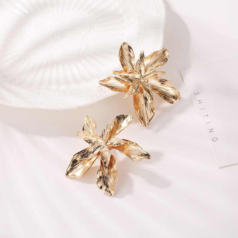 を韓国の宝石ジルコン真珠ハートクリスタル花天使の羽ジオメトリスタッドピアス女性声明耳ジュエリー卸売