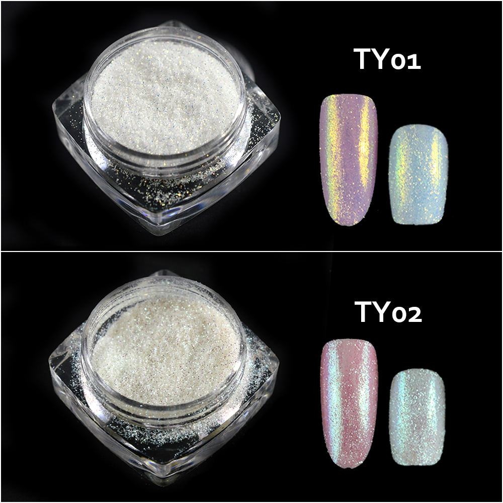 Image 3 - New Fashion 1 Bottle Shining Nail Glitter Dust Sugar Coating Effect Powder DIY Decoration Dust Nail Art Manicure Tool BETY01 05-in Nail Glitter from Beauty & Health