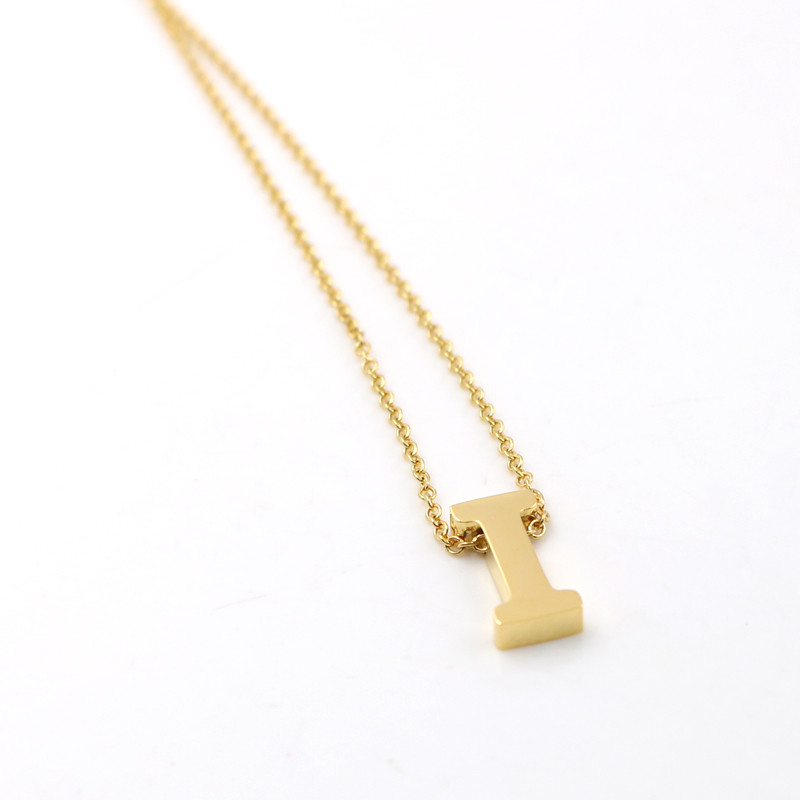Memorable Name Letter Necklace for women Men Anniversary jewelry Gift rose gold/gold/silver Custom Make Name Necklace