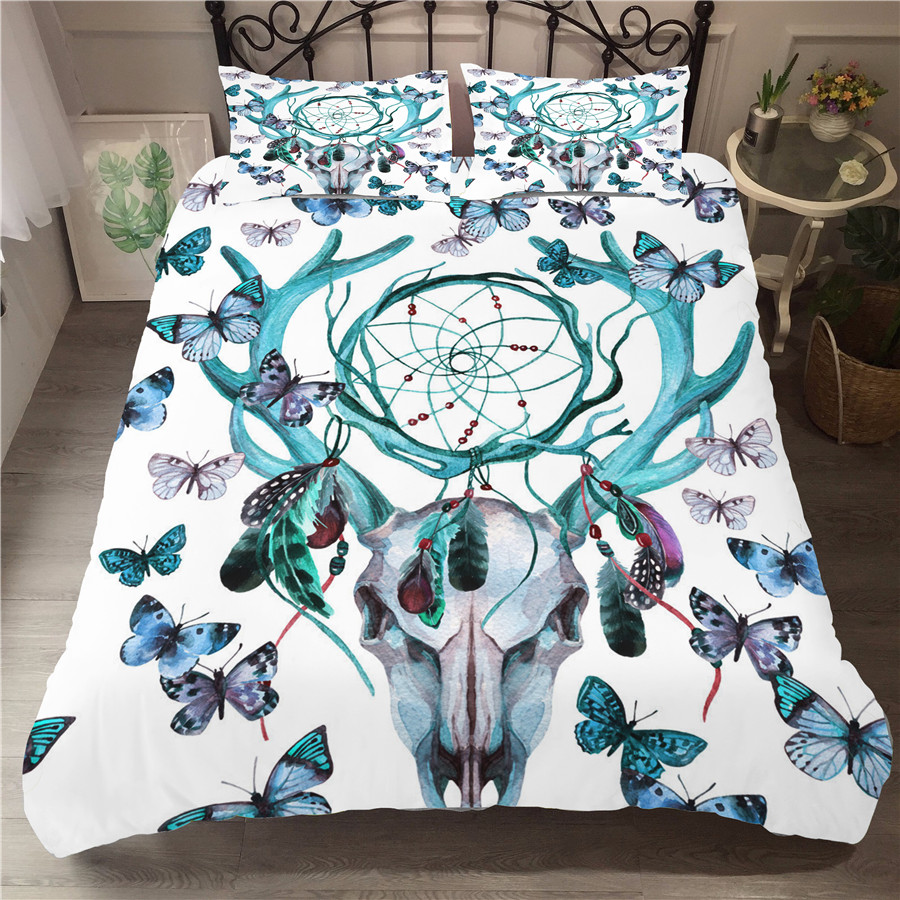 Bedding Set 3D Printed Duvet Cover Bed Set Dreamcatcher Bohemia Home Textiles for Adults Bedclothes with Pillowcase BMW16 in Bedding Sets from Home Garden