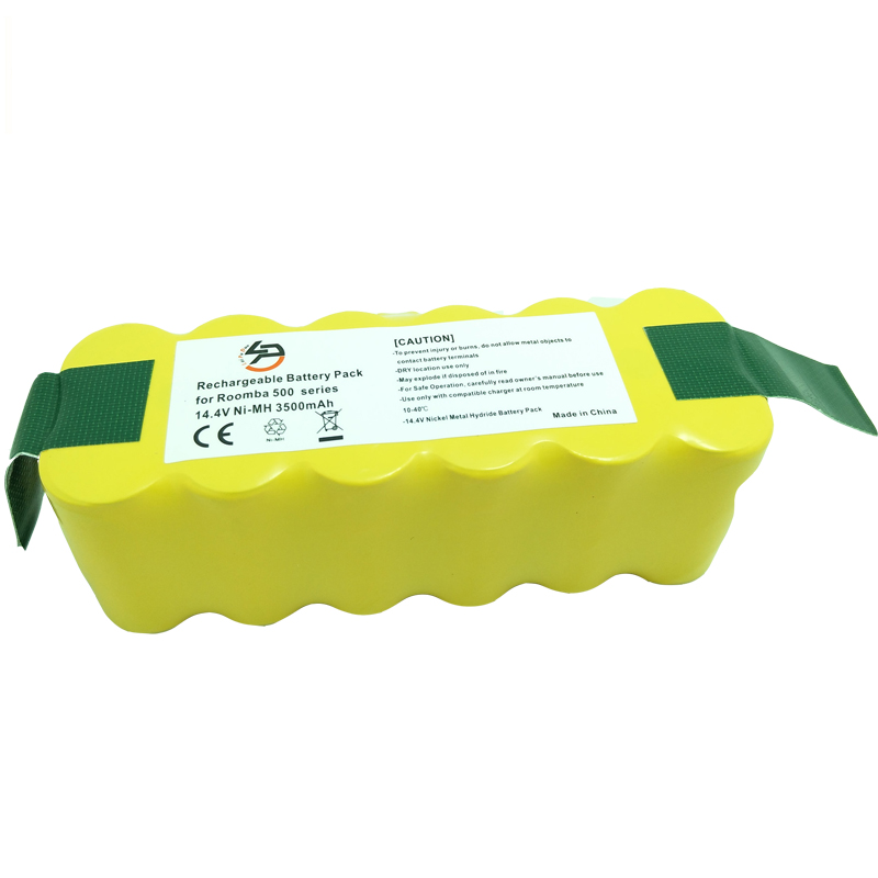 LPD 14.4V 3500mah Replacement NI-MH Batterie for iRobot 500 510 530 550 560 570 580 600 610 620 630 650 700 780 +2pcs Filters