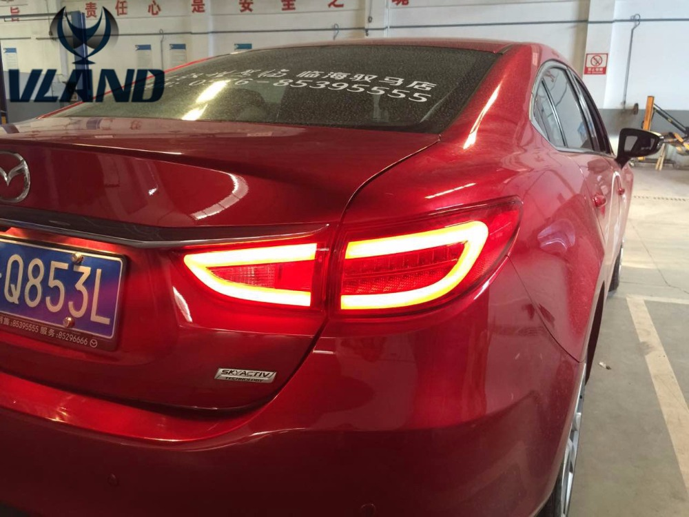 VLAND manufacturer for Car Tail light for M6 Atenza LED Taillight 2014 2015 2016 for M6 Atenza Tail lamp with DRL+Reverse+Brake