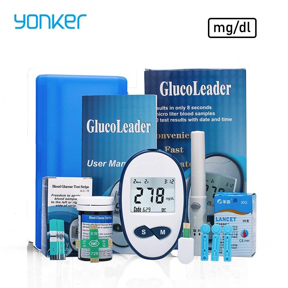 все цены на Yonker Medical Blood Glucose Meters mg/dl Blood Glucose Monitor Vein Finder Glucose meter Diabetes Care Tester For diabetics