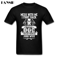 XS 3XL John Wick TV Show High Quality Tee Shirt Men Man's Short Sleeve Cotton Custom Men Tshirts Family Clothes Tops