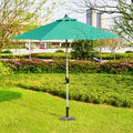 2.7 meter type 2 brushed aluminum outdoor sun umbrella patio covers garden parasol sunshade ( no base ) t