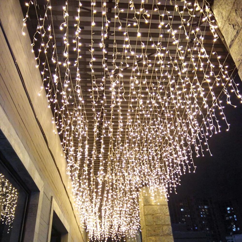 Светодиодный гирлянды и формирующая листы для кровли 4 м 13ft свисать 0,4 м 0,5 м 0,6 м Шторы сосулька гирлянда для свадьбы новогоднее; рождественс...