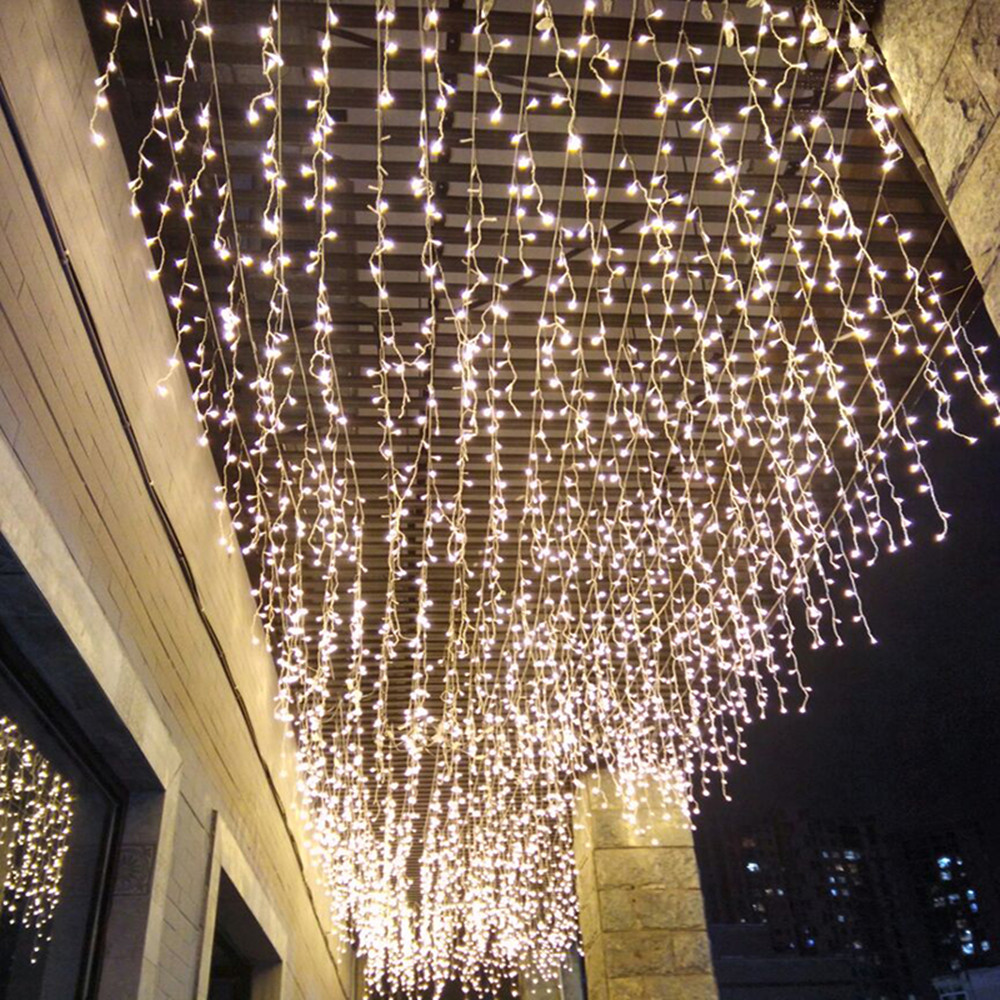 LED String Lights 4M 13ft Droop 0.4m 0.5m 0.6m Curtain Icicle Garland For Wedding New Year Christmas Home Outdoor Decoration