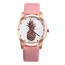 Luxury Brand PAPHITAK Womens Men Pineapple Faux Leather Analog Quartz Watch Relojes Para Mujer de Moda