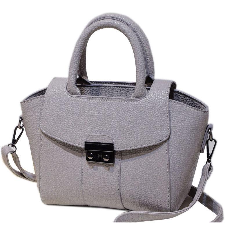 Chic Lock Flap Closure Female Small Bag Korean Style Fashion Women Shoulder Bag Ladies Stylish PU