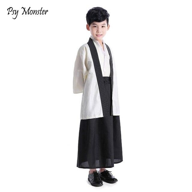 Japanese Style Suit For Boys Kimono Sets Children Clothes Samurai Clothing Girls Costumes Yamato National