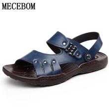 La marca de los hombres sandalias Casuales Zapatos de Los Hombres de verano zapatillas Sandalias Zapatos hombre slip-on pisos tamaño 37-44 585 m