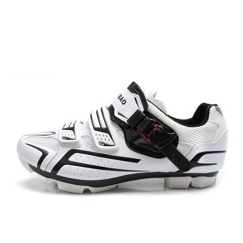 TIEBAO Professionnel VTT Vélo Chaussures Hommes Chaussures De Vélo SPD Taquet Chaussures Montagne Cycle Chaussures S1268