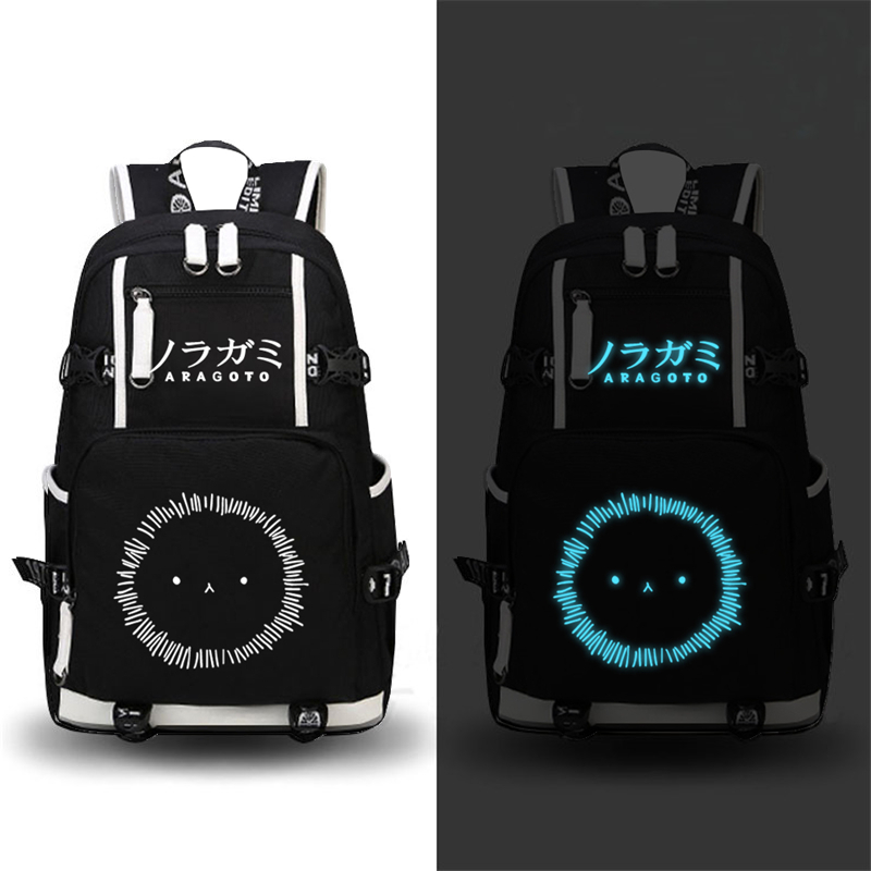 Anime Noragami/Mekakucity Actors Printing Backpack Travel Canvas Backpack Military Rugzak School Bags Laptop Bags