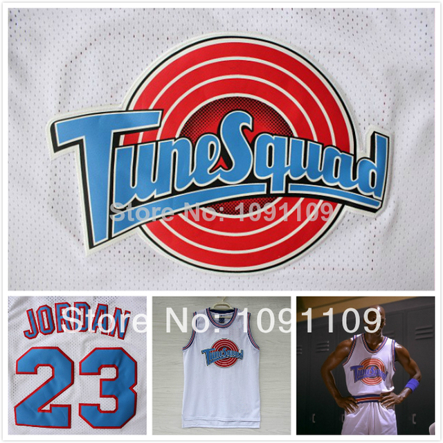 0ac82865041 ... black stitched basketball jersey; michael jordan 23 space jam jersey  white cheap basketball jerseys tune squad jersey looney toones
