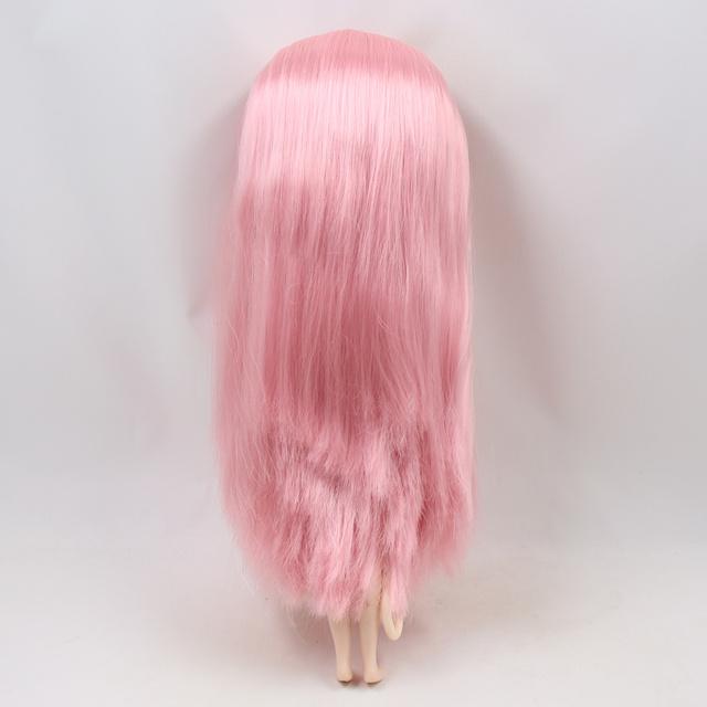 Фабрика Neo Blythe Doll White Pink Прямые волосы обычного тела 30cm