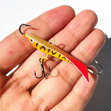 KKWEZVA New 4pcs/lot 60mm 9.3g Ice jig for winter Fishing Lure Ice Fishing Hard Bait Pesca Tackle Isca Artificial Bait