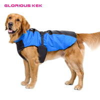 GLORIOUS KEK Dog Clothes For Large Dogs Winter Waterproof Dog Rain Jackets Breathable Outdoor Coat For