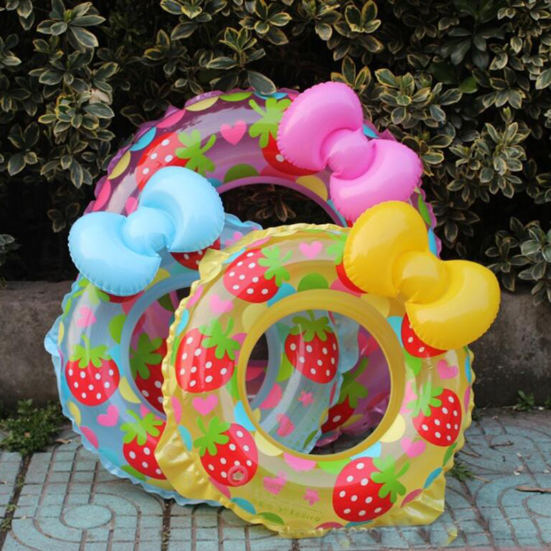 child Bow swimming ring PVC cartoon inflatable swim ring swimming pools for children thickened circle-for-bathing-baby pool ...