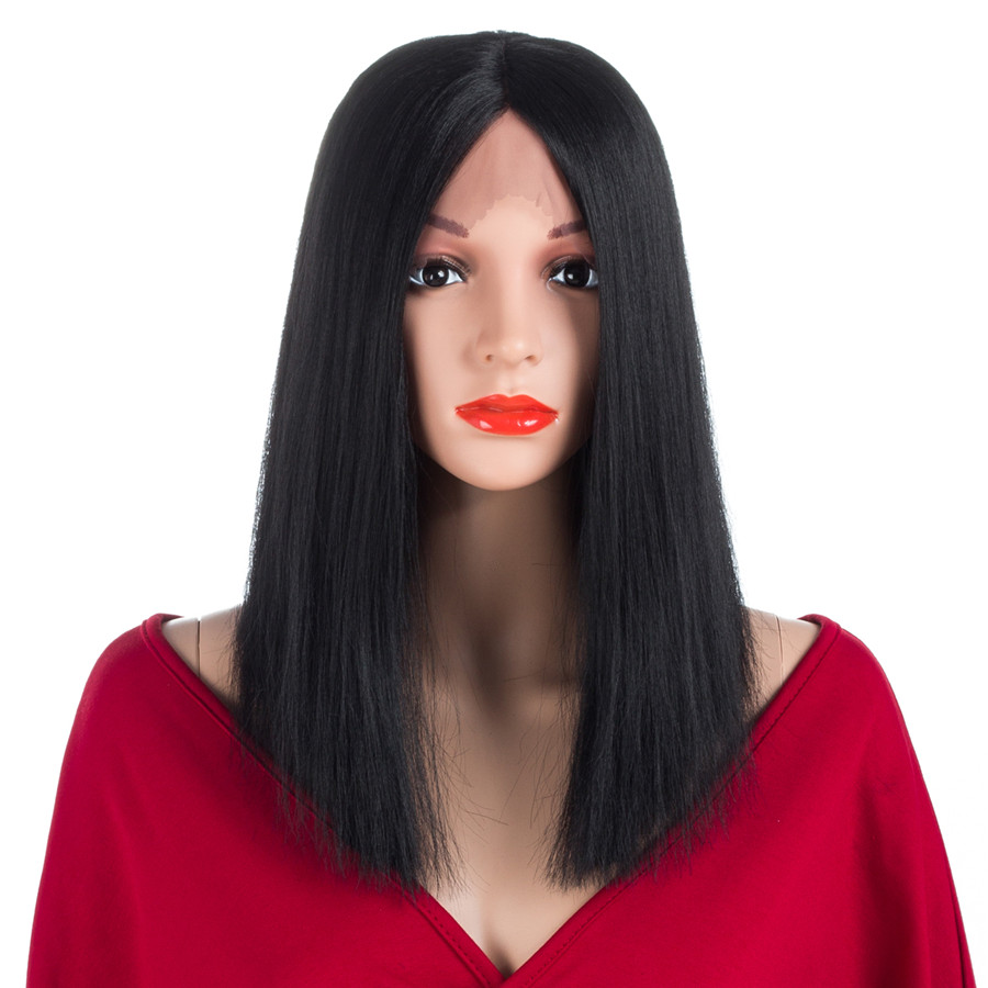 Aigemei 180% Density Lace Front Wigs For Women 3 Colors Straight Wig With Baby Hair 150g in Box